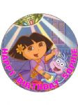 7.5 Personalised Dora The Explorer Icing or Wafer Cake Topper